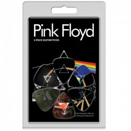 Perri's Pink 2 Floyd Dark Side Of The Moon 6 Pack Guitar Picks