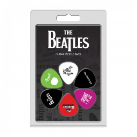 Perri's The Beatles 4 Collection 6 Pack Guitar Picks LP-TB4