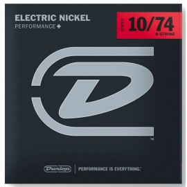 Dunlop 8 String 10-74 Light Nickel Electric Guitar Strings DEN1074