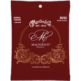 Martin Magnifico Premium Silver Plated Classical 25-42 Tie End Normal Tension Classical Guitar Strings M265
