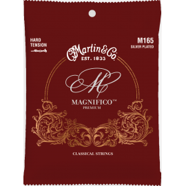 Martin Magnifico Premium Silver Plated Classical 26-43 Tie End Hard Tension Classical Guitar Strings M165