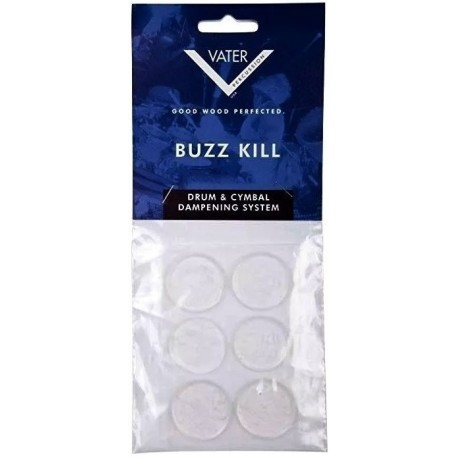 Vater Buzz Kill Dampener Gel For Drums & Cymbals - CLEAR 6 Pieces