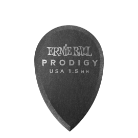 Ernie Ball Prodigy Teardrop Picks - 1.5mm P09330 - 6 pack (black)