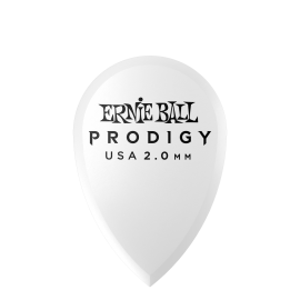 Ernie Ball Prodigy Teardrop Picks - 2.0mm P09336 - 6 pack (white)