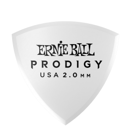 Ernie Ball Prodigy Shield Picks - 2.0mm P09337 - 6 pack (white)