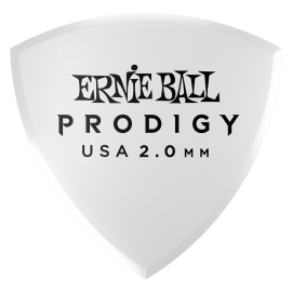 Ernie Ball Prodigy Large Shield Picks - 2.0mm P09338 - 6 pack (white)