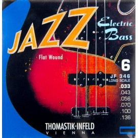 Thomastik 6 String Jazz Swing 33-136 Long Scale Flatwound Bass Guitar Strings JF346