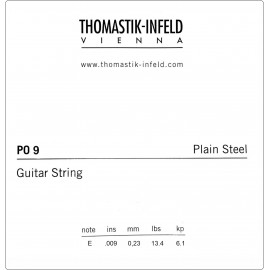 Thomastik-Infeld Plain Steel, Brass Plated .009 Single Electric Guitar String P09