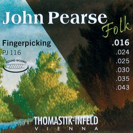 Thomastik-Infeld John Pearse Folk 16-43 Light Finger Style Acoustic Guitar Strings PJ116