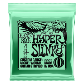 (Available 1st March) Ernie Ball Hyper Slinky 08-42 Nickel Electric Guitar Strings P02229