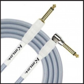 Kirlin 10ft Fabric Gel Guitar and Instrument Lead Cable str-ang Jacks - BLUE