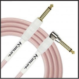 Kirlin 20ft Fabric Gel Guitar and Instrument Lead Cable str-ang Jacks - RED