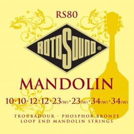 Rotosound Troubadour Mandolin 10-34 Phosphor Bronze Loop End Strings RS80