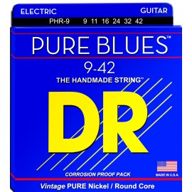Dr Handmade PURE BLUES 09-42 Lite Pure Nickel Electric Guitar Strings PHR-9