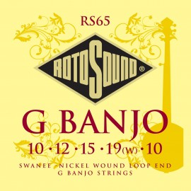 Rotosound  RS65 5 String 'G Banjo' Nickel Wound Banjo Strings 10 - 10