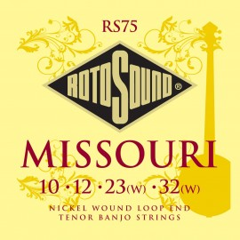 Rotosound  RS75 4 String 'Missouri Tenor Banjo' Nickel Wound Banjo Strings 10 - 32w