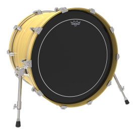 """Remo 20"""" Ebony Pinstripe Two Ply Bass Drum Skin ES-1620-PS"""