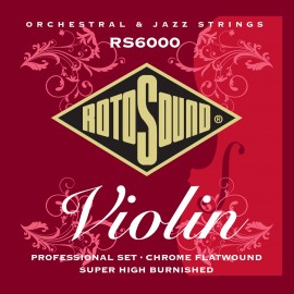 Rotosound  RS6000 'Professional Violin' Chrome Flatwound Violin Strings 10 - 30