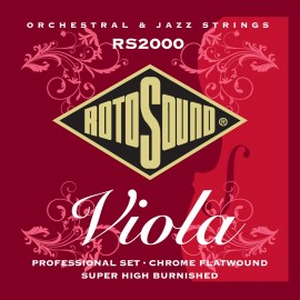 Rotosound  RS2000 'Professional Viola' Chrome Flatwound Viola Strings 14 - 43