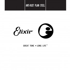 Elixir Plain Steel .022 Single Electric or Acoustic Guitar String E13022