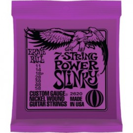 Ernie Ball Nickel Wound Power Slinky 7 String Electric Guitar Strings