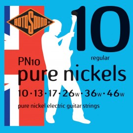 Rotosound PN10 'Pure Nickels' Pure Nickel, Regular Electric Guitar Strings 10 - 46
