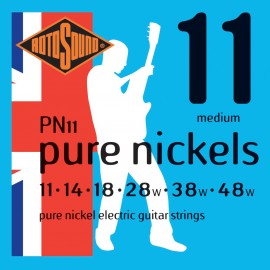 Rotosound PN11 'Pure Nickels' Pure Nickel, Medium Electric Guitar Strings 11 - 48