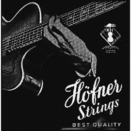 Hofner Black Nylon Flatwound 55-110 Medium Scale Beatles Bass Strings for Violin or Club Bass H1133BN