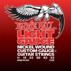 Ernie Ball Custom Gauge 11-52 (wound 3rd) Light Nickel Electric Guitar Strings 2208