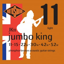 Rotosound JK11 Acoustic Jumbo King 11-52 Phosphor Bronze Acoustic Guitar Strings
