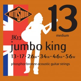 Rotosound Jumbo King 13-56 Medium Phosphor Bronze Acoustic Guitar Strings JK13