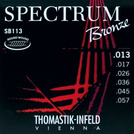 Thomastik-Infeld Spectrum Bronze 13-57 Medium Acoustic Guitar Strings SB113
