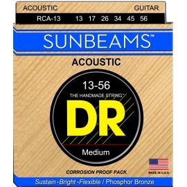 Dr Handmade Sunbeams 13-56 Medium Phosphor Bronze Acoustic Guitar Strings RCA13