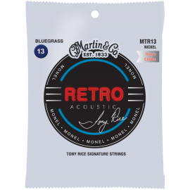 Martin RETRO 13-56 Bluegrass Monel Tony Rice Acoustic Guitar Strings MTR13
