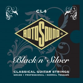 Rotosound CL4 Black n' Silver Classical 28-45 Normal Tension Grade 1 Classical Guitar Strings