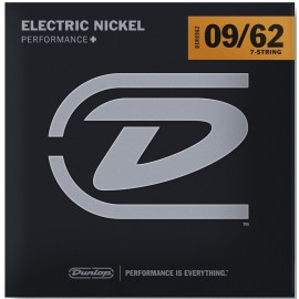 Dunlop 7 String 09-62 Light Nickel Wound Electric Guitar Strings DEN0962