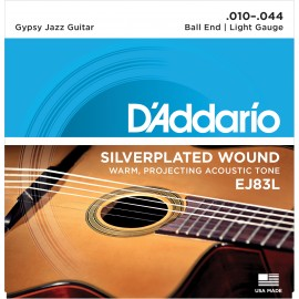 D'Addario Gypsy Jazz Ball End 10-44 Light Acoustic Guitar Strings EJ83L