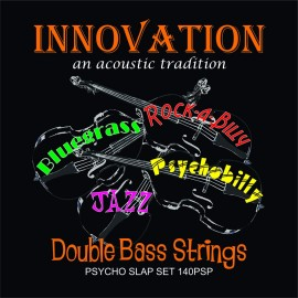 Innovation 140PSP 'Psycho-Slap Set' Thicker Gauged Low Tension Braided Core Clear Nylon Wound Double Bass Strings