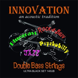 Innovation  140UB 'Ultra Black Set' High Tension Braided Core Black Nylon Tape Wound Double Bass Strings