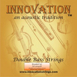 Innovation 140B 'Braided Set' Medium Tension Solid Core Chrome Tape Wound Double Bass Strings