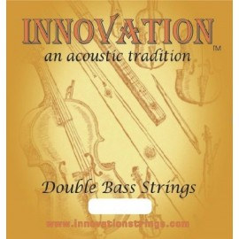 Innovation 90140BS Braided Solo Double Bass Set Braided Core Medium Tension Chrome Tape Wound Set