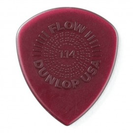 Dunlop Flow Grip Standard Guitar Pick - 1.14mm 549P114 - 6 pack (purple)