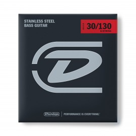 Dunlop 6 String Stainless Steel 30-130 Medium Bass Guitar Strings DBS30130