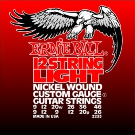 Ernie Ball 12 String Light Nickel Wound with Wound 'G' Electric Guitar Strings