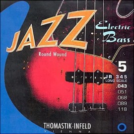 Thomastik Jazz 5 String 43-118 Long Scale Round Wound Bass Guitar Strings JR345