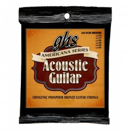 Ghs Americana Series 13-56 Medium Cryogenic Phosphor Bronze Acoustic Guitar Strings S435