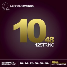 Picato 12 String 80/20 Bronze 10-48 Light Acoustic Guitar Strings