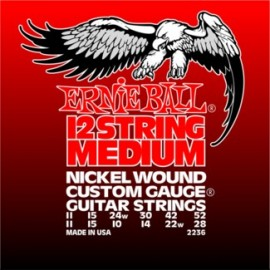 Ernie Ball 12 String Custom Gauge 11-52 Medium Nickel Electric Guitar Strings 2236