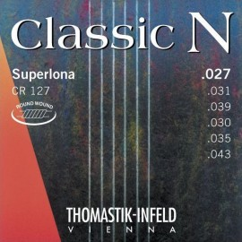 Thomastik Classic N Superlona 27-43 Light Roundwound Silver Plated Basses Classical Guitar Strings CR127