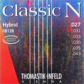 Thomastik Classic N Superlona 27-43 Light Roundwound Silver Plated Basses Classical Guitar Strings CR128